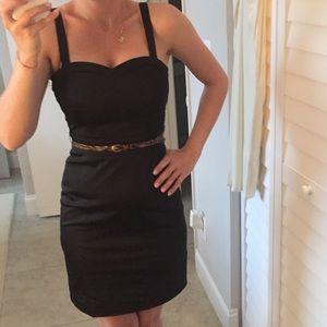 H&M elegant black dress with belt